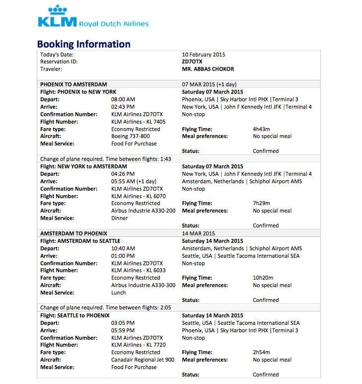 Travel Visa Blog - Flight Reservation for Visa Application Without ...