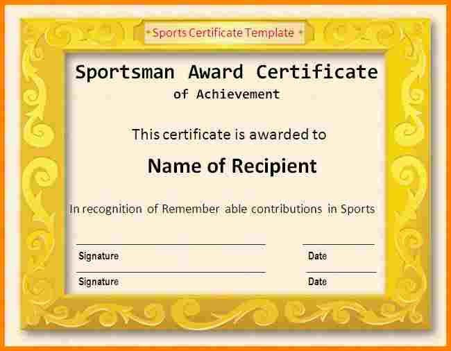 10+ sports certificate format | sample of invoice