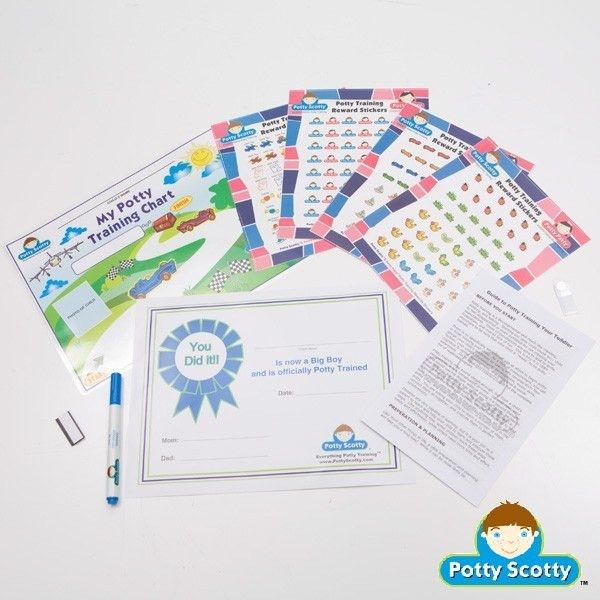 Potty Training Chart & Stickers - Potty Scotty | Potty Training ...