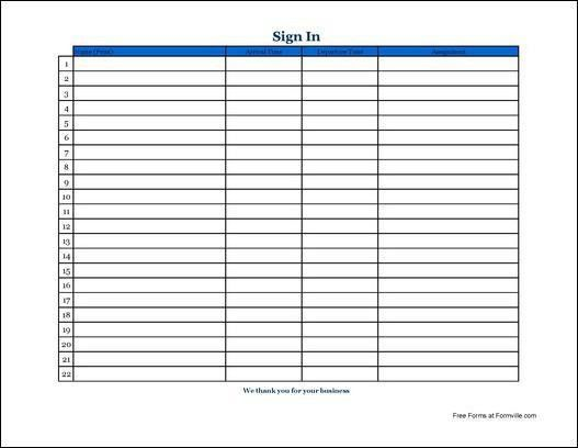 Sign In Sheet In Pdf. Printable Open House Sign In Sheet Sign In ...