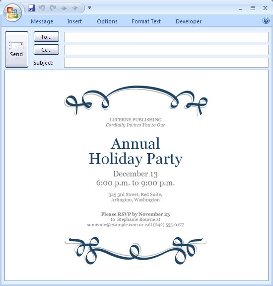 6 Fabulous Party Invitation Email Template | neabux.com