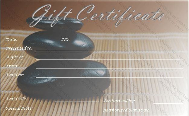 Rocks Gift Certificate Template