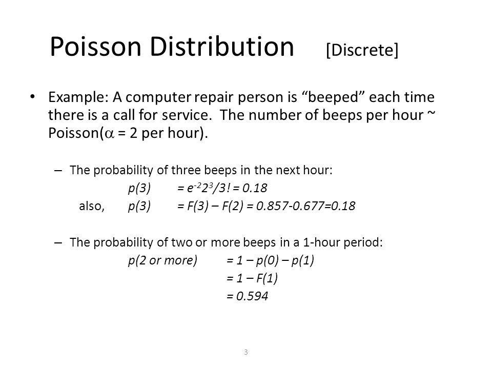 Exponential and Poisson Chapter 5 Material. 2 Poisson Distribution ...