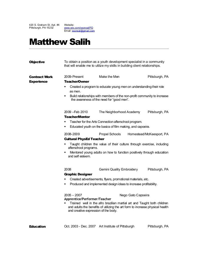 resume sample for physical education teacher. surprising dance ...
