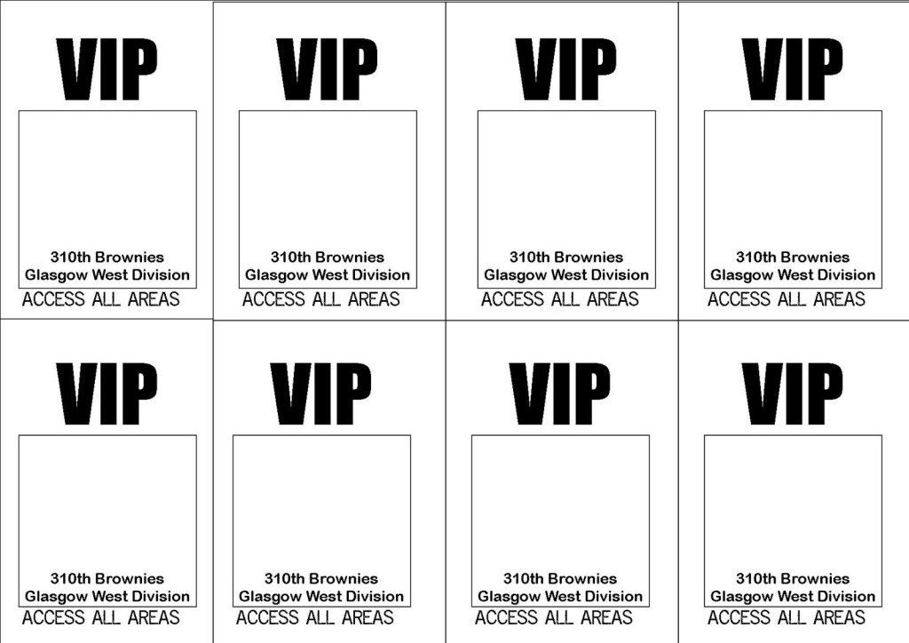Free Printable VIP Ticket Access Template Example with Simple ...