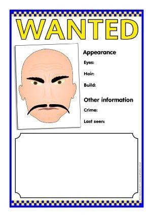 Wanted Poster Writing Frames and Printable Page Borders KS1 & KS2 ...