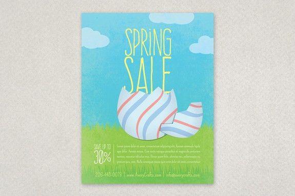 Spring Sale Easter Flyer Design Template | Inkd