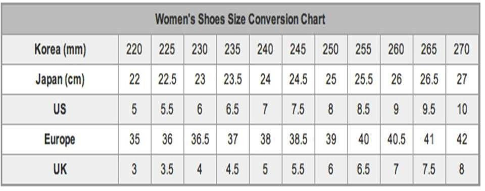 Size Guide - Shop or Create Your Own Shoes | Lova Shoes
