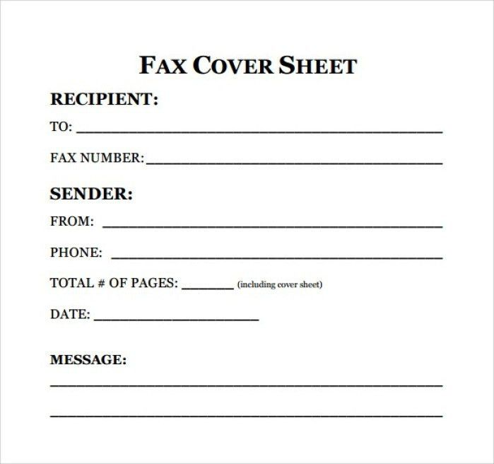 Resume Fax Cover Letter