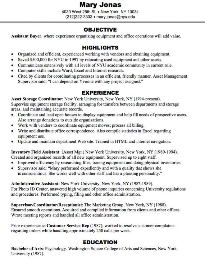 assistant buyer resume sample - http://exampleresumecv.org ...