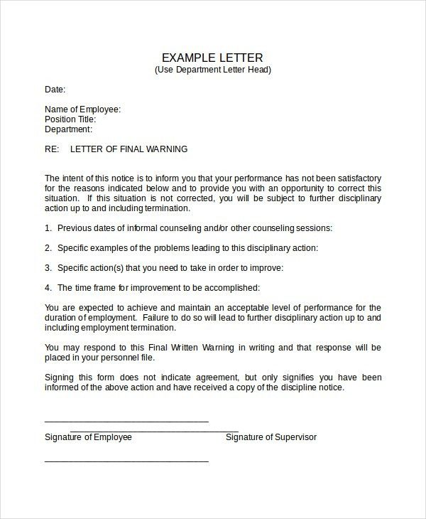 Disciplinary Memo Template. Responding To Proposed Discipline For ...