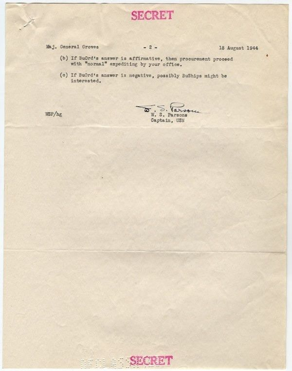 Sample of Original Documents of the Atomic Energy Commission at ...