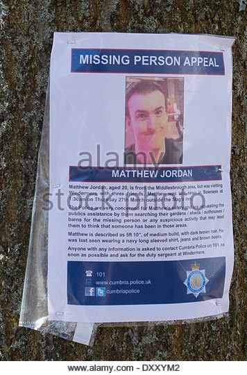 Missing Person Poster Uk Stock Photos & Missing Person Poster Uk ...