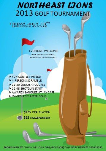 15 Free Golf Tournament Flyer Templates : Fundraiser & Charity ...