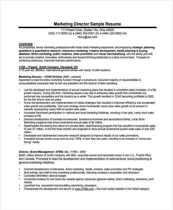 Sample Director of Operations Resume - 7+ Free Documents Download ...