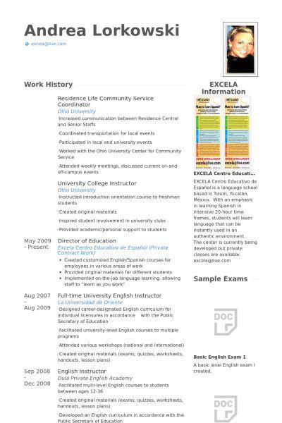 Community Service Resume samples - VisualCV resume samples database
