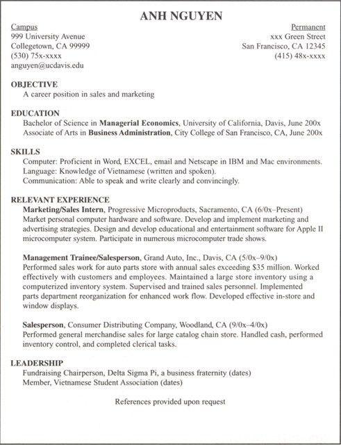 Economics Major Resume - cv01.billybullock.us