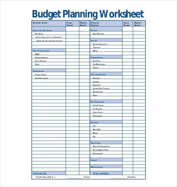 10+ Budget Planner Templates – Free Sample, Example, Format ...