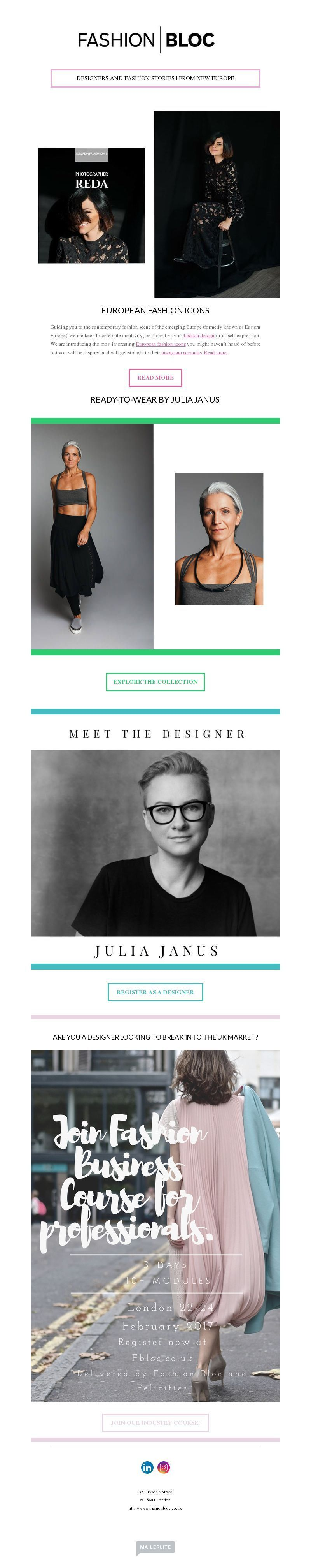 Fashion Newsletter Design Gallery and Examples | MailerLite