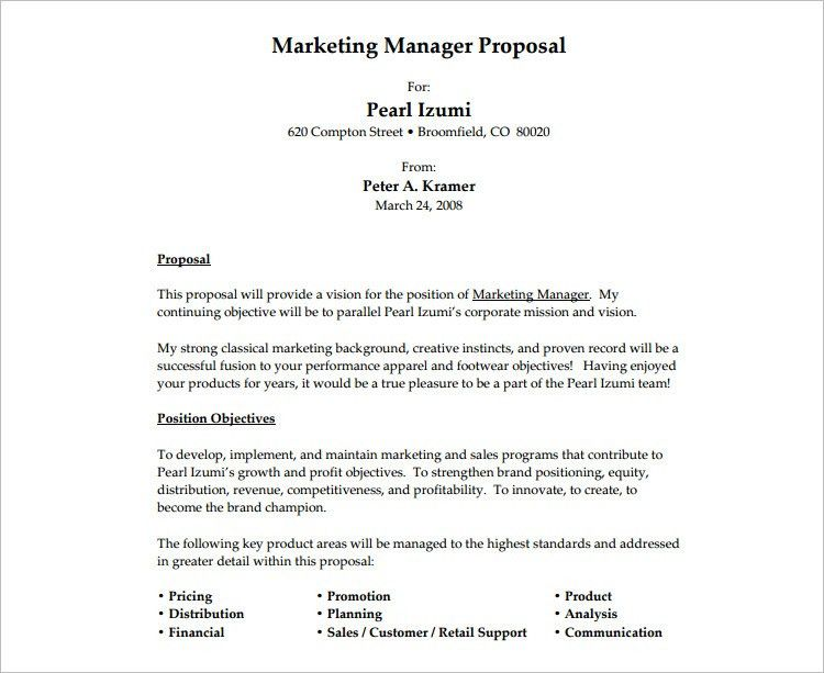 Professional Proposal Template. Best 25+ Sample Business Proposal ...