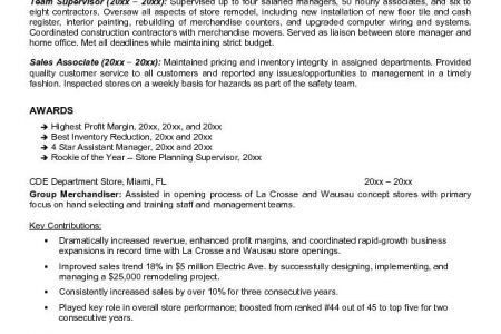 Retail Objective For Resume, example resume for retail. sample ...