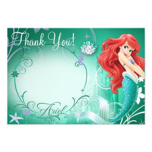 Personalized Disney little mermaid Invitations ...