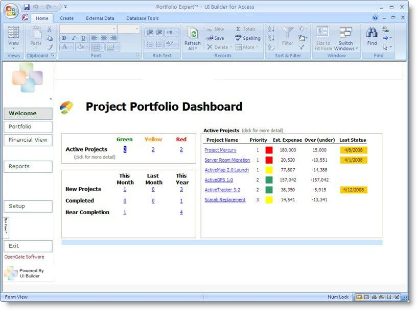 Project Portfolio Dashboard Template | Projectemplates