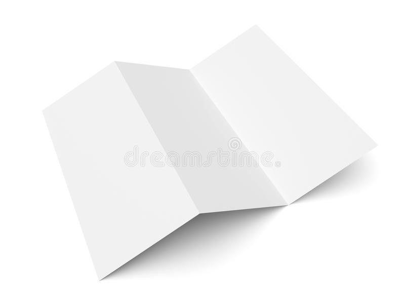 Leaflet Blank Trifold White Paper Brochure Stock Photo - Image ...