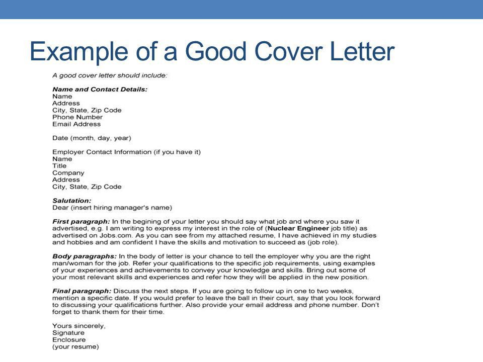 COVER LETTERS FOR CAREERS IN AGRI-BUSINESS. Cover letters and the ...
