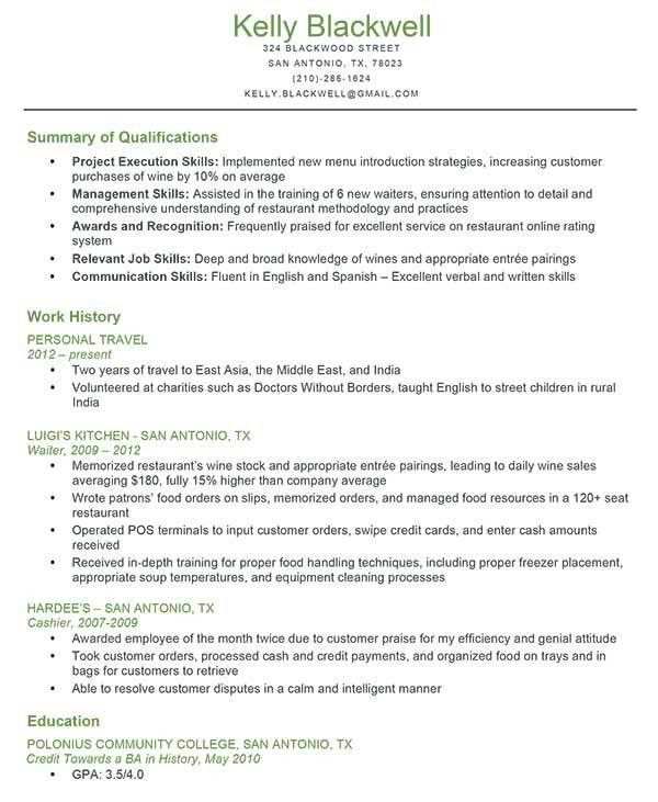 summary of qualifications sample resume resume sample hair