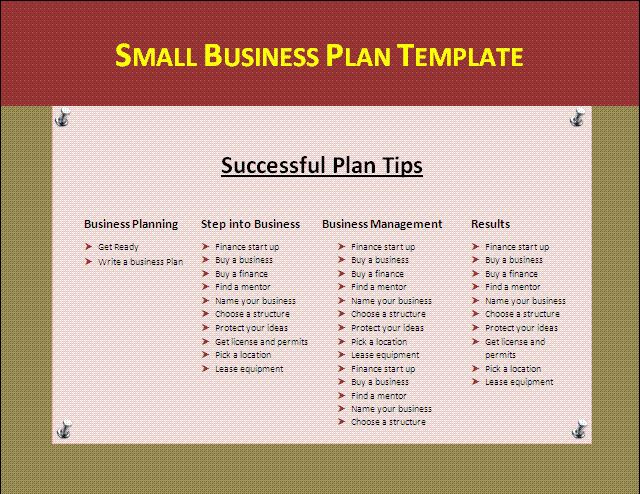 Small Business Plan Template | Formsword: Word Templates & Sample ...