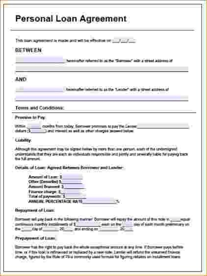 7+ Personal Loan Contract Template | Timeline Template