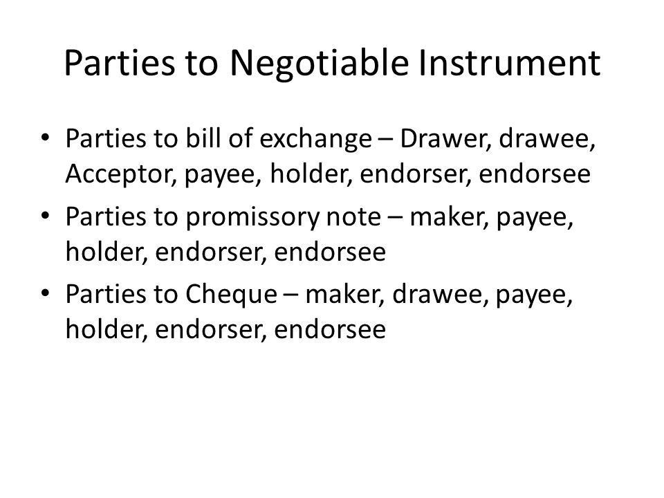 Negotiable Instruments - ppt download