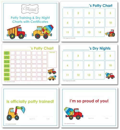 Potty Training Charts | The Organised Housewife Shop
