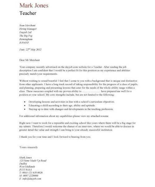 Picturesque Design Cover Letter For Teaching Position 12 - CV ...