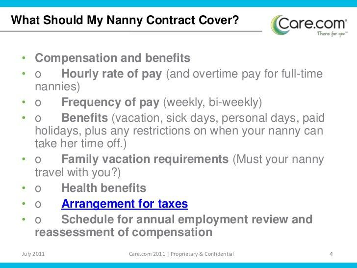 Nanny ContractNanny Contracts. Find This Pin And More On Nanny 24 ...