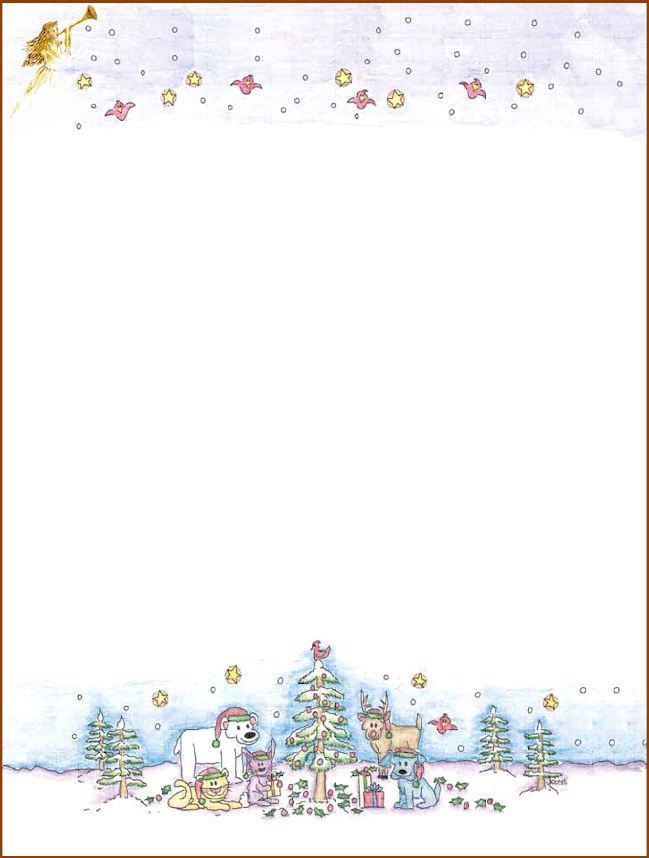 Christmas Stationary Templates. 7 free christmas templates for ...