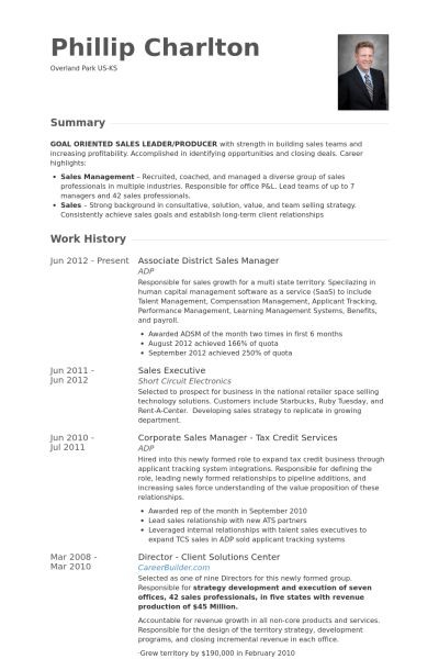 District Sales Manager Resume samples - VisualCV resume samples ...