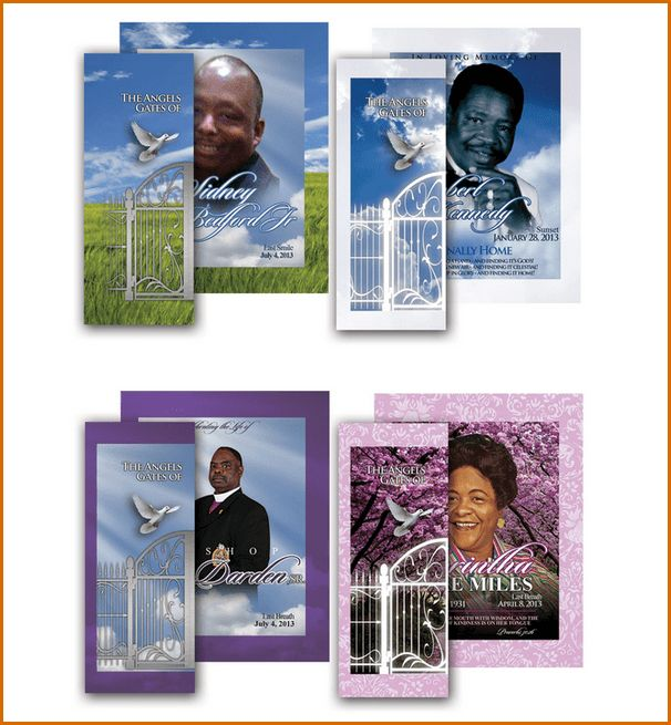 6+ funeral program samples | Authorizationletters.org