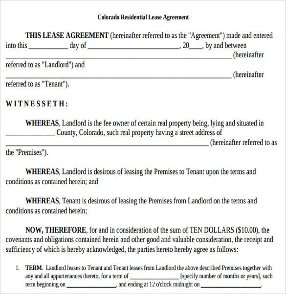 Printable Lease Agreement - 10+ Samples, Examples, & Format