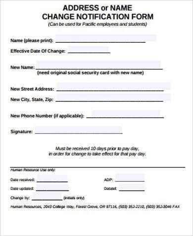 Change Of Address Printable Form, change of address printable form ...