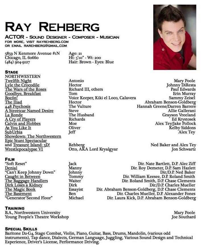 Download Theatre Acting Sample Resume | haadyaooverbayresort.com