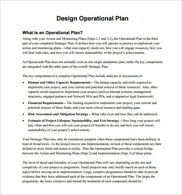 Operational Plan Template - 5 Free Word, PDF Documents Download ...