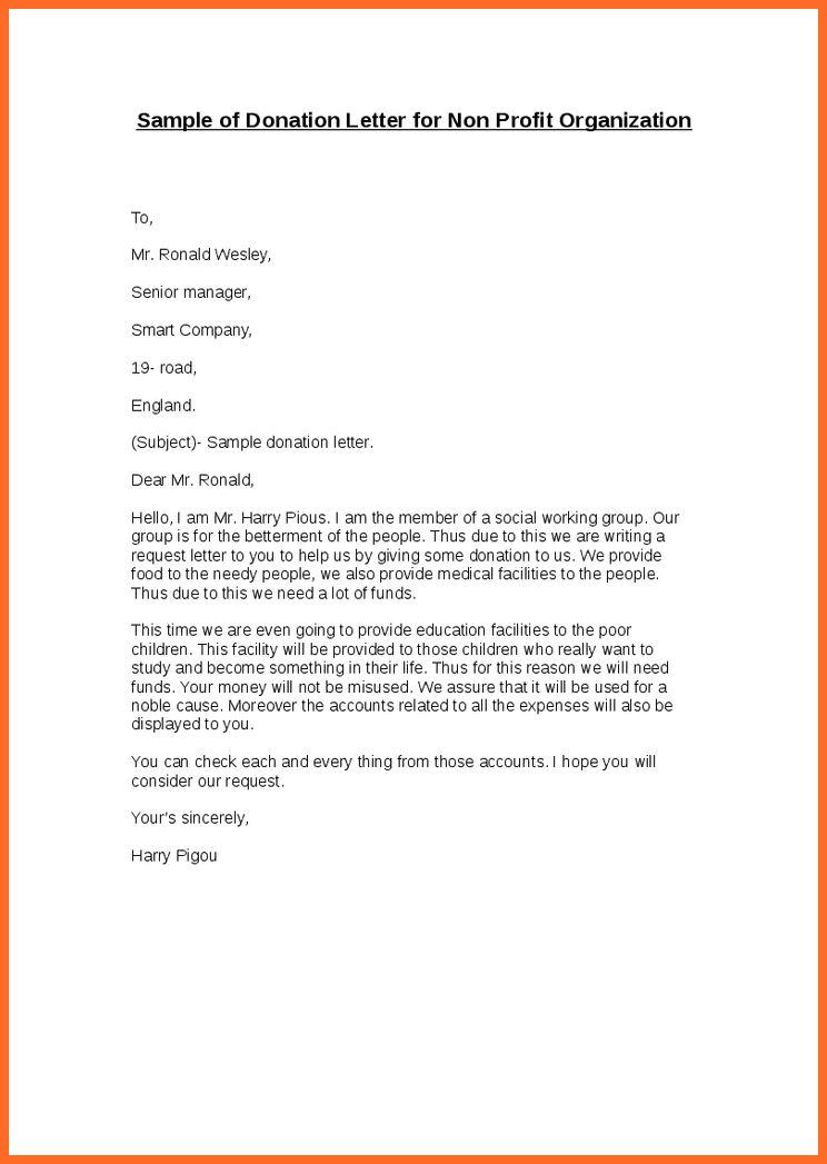 non profit cover letter | soap format