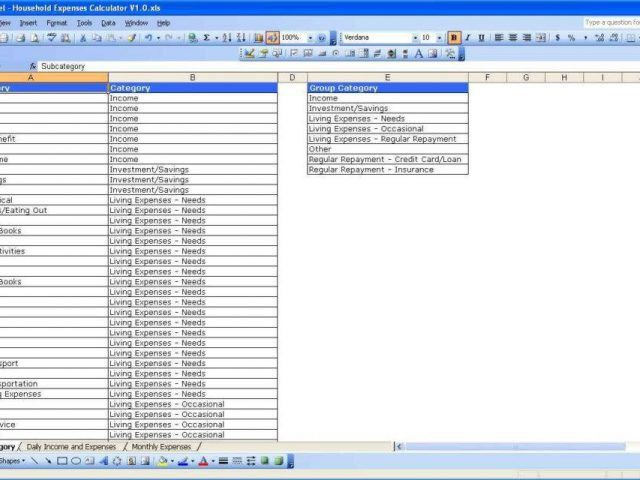 Monthly Bill Budget Template Free Monthly Bills Spreadsheet ...