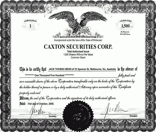 Share Certificate (offshore company explained)