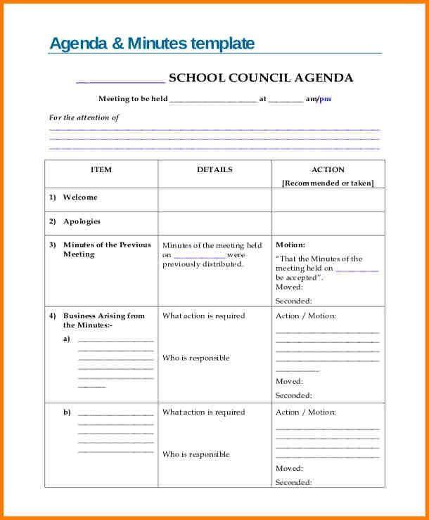 Agenda Format. 10+ Staff Meeting Letter Format | Science-Resume ...