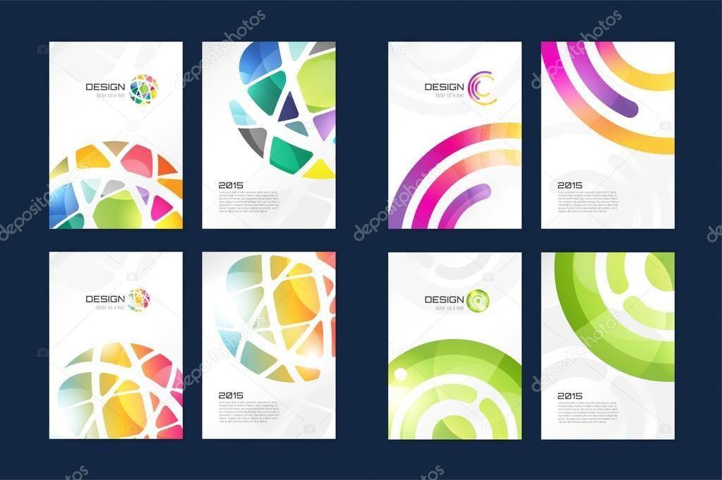 Vector globe brochure template set. Abstract arrow design and ...