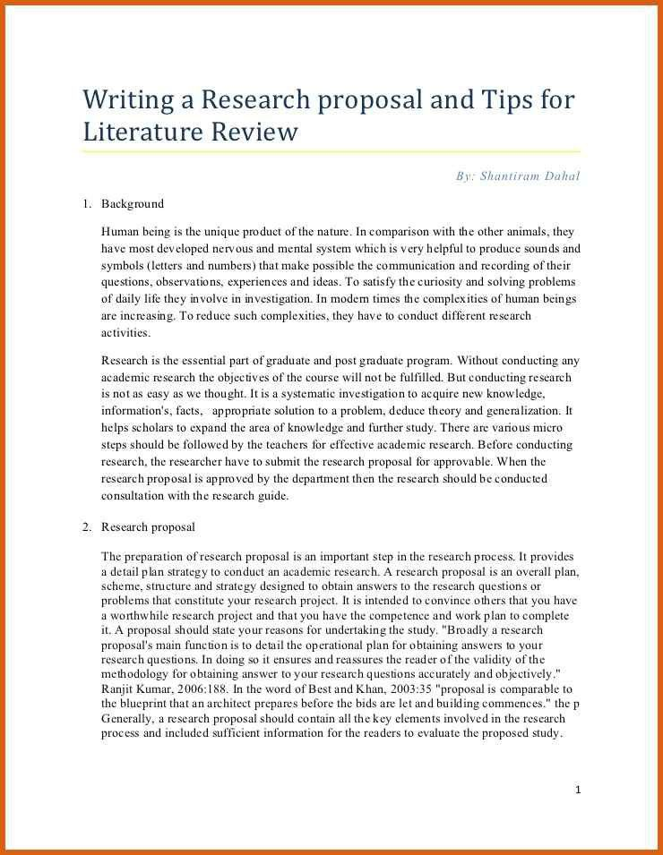 research paper proposal example | apa examples