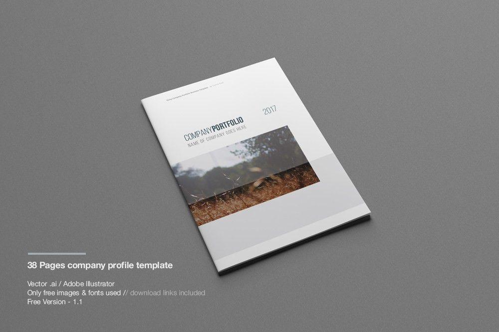 Company Profile Print Template